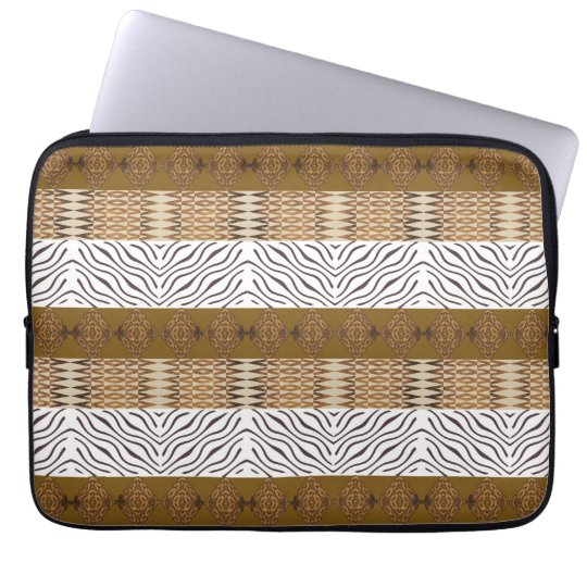 ethnic african stripes  seamless pattern laptop computer sleeve
