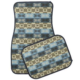 ethnic african tribal geometric pattern car mat