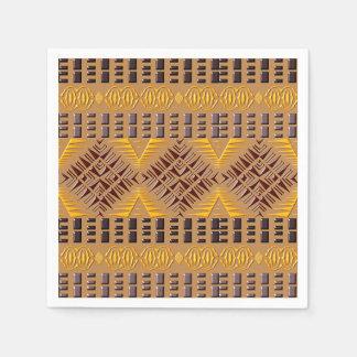 ethnic african tribal geometric pattern paper serviettes