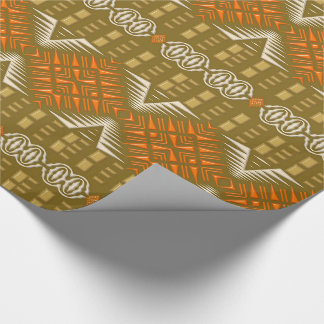 ethnic african tribal geometric pattern wrapping paper