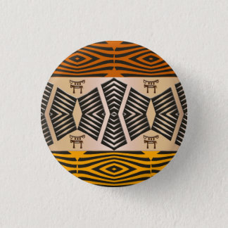 ethnic african tribal pattern 3 cm round badge
