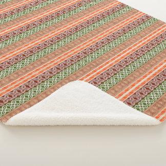 ethnic african tribal pattern. Adinkra simbols. Sherpa Blanket