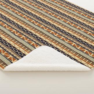 Ethnic african tribal pattern. sherpa blanket
