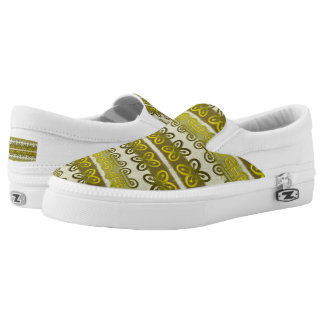 ethnic african tribal pattern with Adinkra simbols Slip-On Shoes