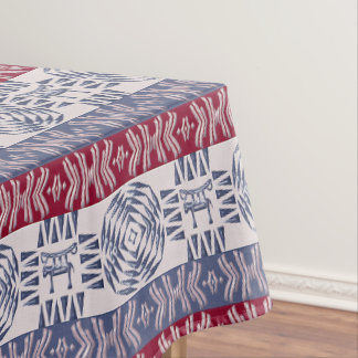 Ethnic african tribal pattern with  simbols tablecloth