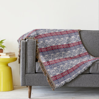 Ethnic african tribal pattern with  simbols throw blanket