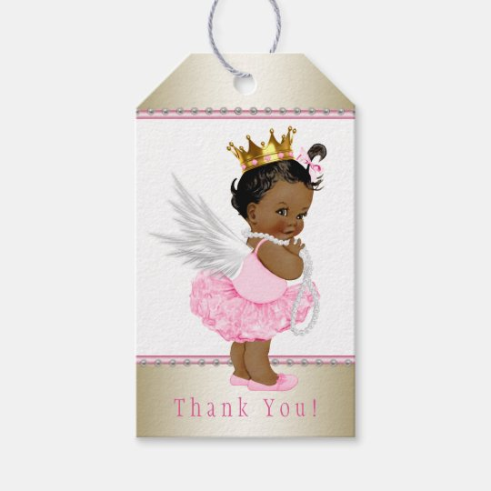 Ethnic Angel Girl Baby Shower Gift Tags