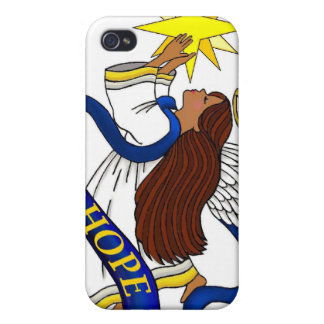 Ethnic Angel of Hope Cover For iPhone 4