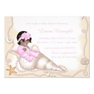 Ethnic Baby Girl Beach Baby Shower 11 Cm X 16 Cm Invitation Card