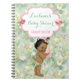 Ethnic Baby Tropical Hawaiian Shower Guest Book Note Book
