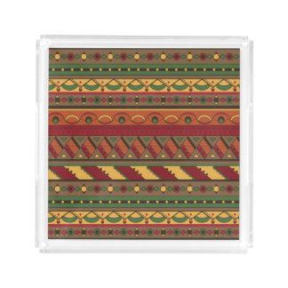 Ethnic background acrylic tray