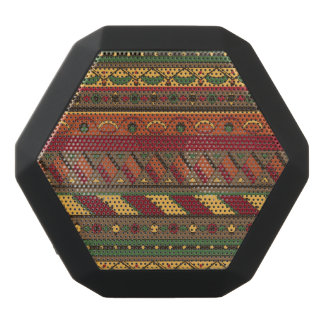 Ethnic background black bluetooth speaker