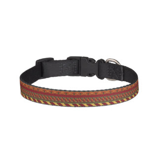 Ethnic background pet collar