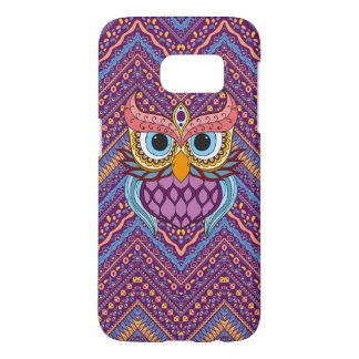 Ethnic Background With Owl Samsung Galaxy S7 Case