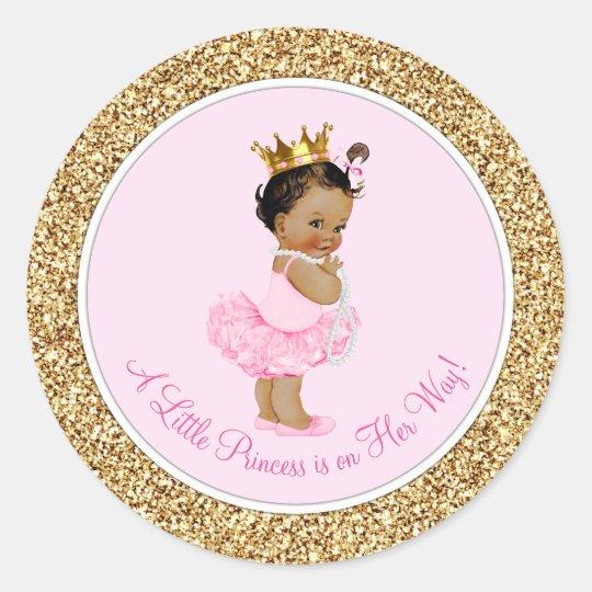 Ethnic Ballerina Princess Pink Gold Baby Shower Classic