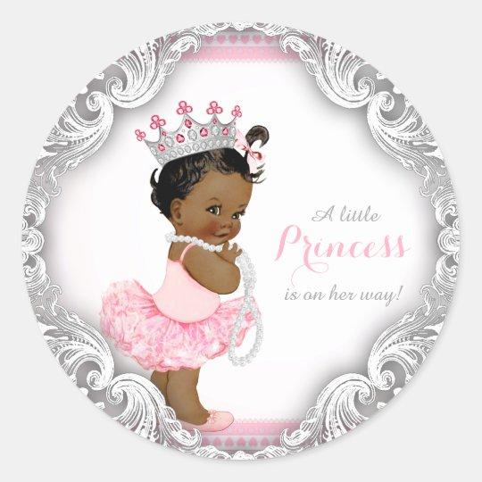 Ethnic Ballerina Princess Tutu Girl Baby Shower Classic