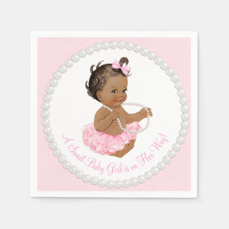 Ethnic Ballerina Tutu Pearl Baby Shower Disposable Napkin