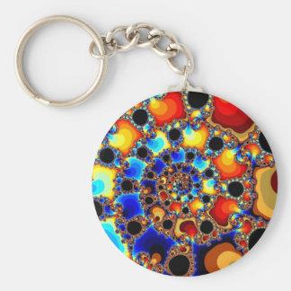 Ethnic Basic Round Button Key Ring