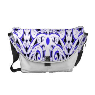 Ethnic Blue Floral Courier Bag