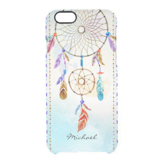 Ethnic Boho Bohemian Dream-Catcher Hand Painted Clear iPhone 6/6S Case
