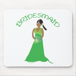 Ethnic Bridesmaid in Green Gifts Mouse Pad