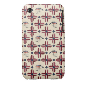Ethnic Decorative Pattern With Birds iPhone 3 Case-Mate Case