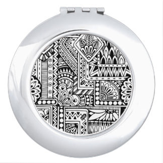 Ethnic Doodle Compact Mirror