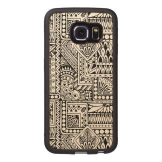 Ethnic Doodle Wood Phone Case