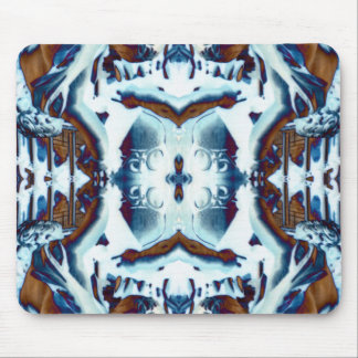ethnic exotic bohemian pattern blue tribal batik mouse mat