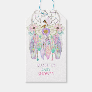 Ethnic Fairy Dream Catcher Arrow Feathers Ribbons Gift Tags