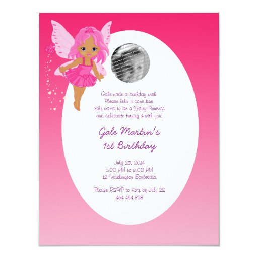 Ethnic Fairy Princess Girl's Birthday Party 11 Cm X 14 Cm Invitation Card
