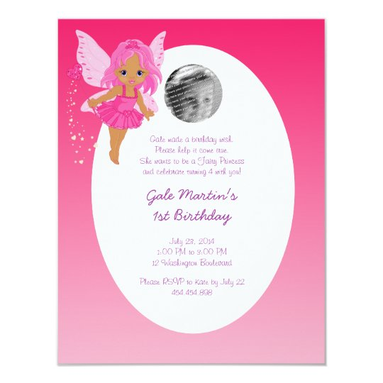 Ethnic Fairy Princess Girl's Birthday Party Card