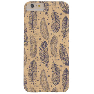 Ethnic Feather Outline Pattern Barely There iPhone 6 Plus Case