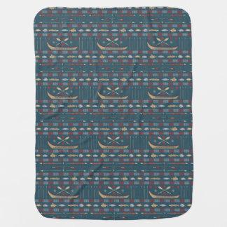 Ethnic Fishing Pattern Baby Blanket