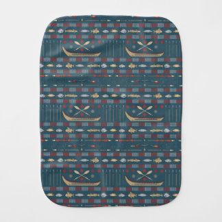 Ethnic Fishing Pattern Burp Cloth