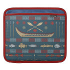 Ethnic Fishing Pattern iPad Sleeve