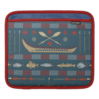 Ethnic Fishing Pattern iPad Sleeve