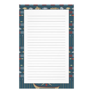 Ethnic Fishing Pattern Stationery