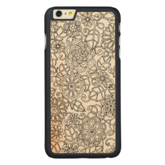 Ethnic Floral Doodle Carved® Maple iPhone 6 Plus Case