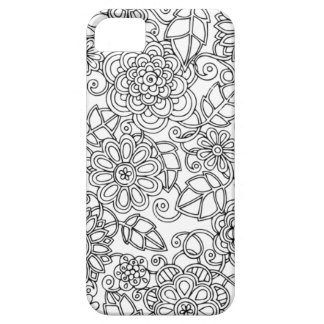 Ethnic Floral Doodle iPhone 5 Cases