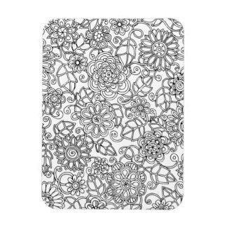 Ethnic Floral Doodle Magnet