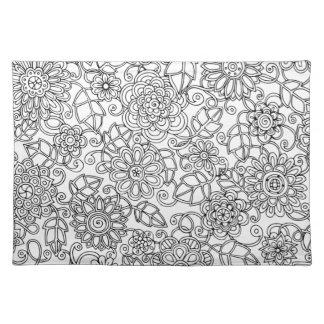 Ethnic Floral Doodle Placemat