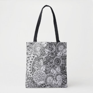 Ethnic Floral Inspired 2 Tote Bag