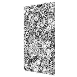 Ethnic Floral Inspired 6 Canvas Print