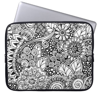 Ethnic Floral Inspired Laptop Sleeve