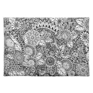 Ethnic Floral Inspired Placemat