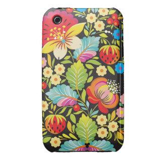Ethnic Flowers Decorative Art iPhone 3 Cases