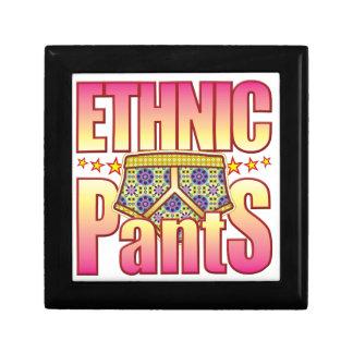 Ethnic Flowery Pants Trinket Boxes