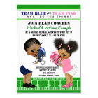 Ethnic Football Gender Reveal Baby Shower Card