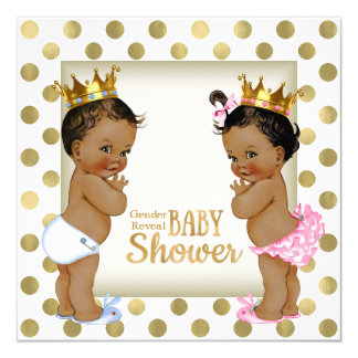 Ethnic Gender Reveal Baby Shower Card